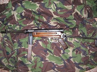 Beretta Model 38 - Beretta Model 1 with MP40-style under-folding stock