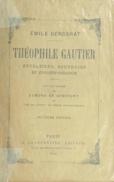 File:Bergerat - Théophile Gautier, 1879, 2e éd.djvu