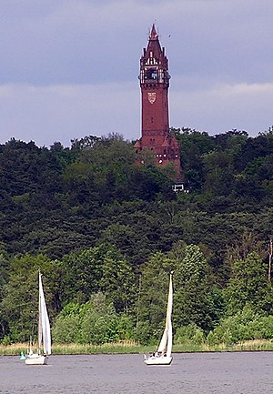 Grunewald Tower - Grunewaldturm and River Havel in Berlin