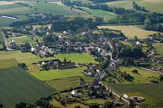Besson, Allier - An aerial view of Besson