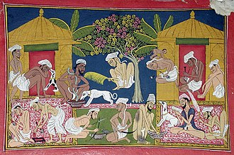 Recreational drug use - Bhang eaters from India c. 1790.  Bhang is  an edible preparation of cannabis native to the Indian subcontinent. It has been used in food and drink as early as 1000 BCE by Hindus in ancient India.