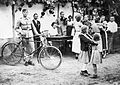 Bicycle, dance, musical instrument, dulcimer, violin, uniform Fortepan 7978.jpg