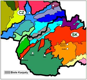 White Carpathians - Image: Biele Karpaty