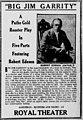 Big Jim Garrity newspaper 1916 advertisement.jpg