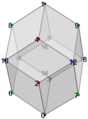 Bilinski dodecahedron (gray), numbers.png