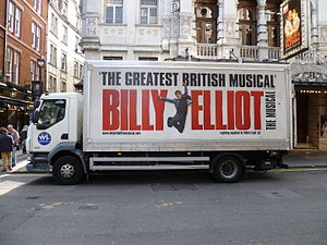 Billy Elliot - Billy Elliot advert on a lorry in London