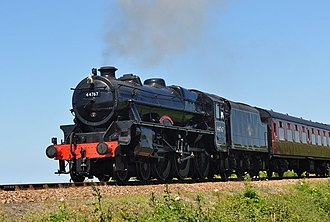 LMS Stanier Class 5 4-6-0 4767 - 44767 on a train to Weybourne June 2010