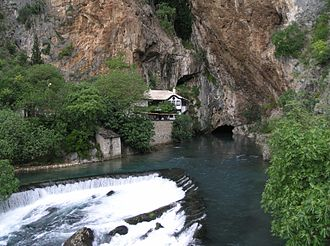 Blagaj - Source of the Buna river and the Blagaj Tekija