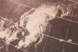 1969 Atlantic hurricane season - Image: Blanche 1969Aug 1119691756z ESSA9