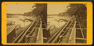 Benjamin Franklin Upton - Image: Board sluice at the Falls of St. Anthony, by Upton, B. F. (Benjamin Franklin), 1818 or 1824 after 1901