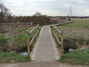 Walthamstow Marshes - Boardwalk across an environmental protection area
