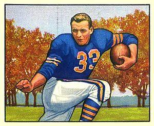Bob Perina - Perina on a 1950 Bowman football card