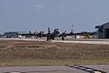 Boeing B-17G-85-DL Flying Fortress Nine-O-Nine Landing Taxi 07 CFatKAM 09Feb2011 (14983568092).jpg