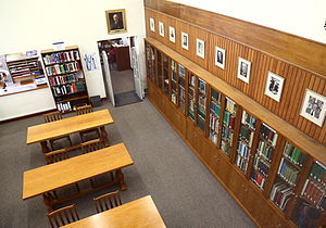 Bolus Herbarium - An aerial view of the Bolus Herbarium library in the Botany Building, Upper Campus, University of Cape Town
