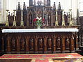 Bomy (Pas-de-Calais, Fr) église Saint-Vaast autel, statues et candelabres.JPG