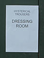 Bondi, 18 - Hysterical Trousers Dressing Room sign - Bodi Beach, 2011.jpg