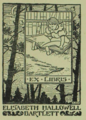 Bookplate for Elisabeth Hallowell Bartlett by Elisabeth Hallowell Saunders.png