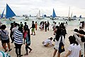 Boracay Boat and Tourists.jpg
