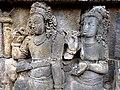 Borobudur - Divyavadana - 067 W, King Bimbisara receives King Rudrayana's Jewel Offering (detail 3) (11706379835).jpg