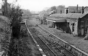 Bothwell - Until 1955 Bothwell had a station on the North British Railway. These are the remains in 1961