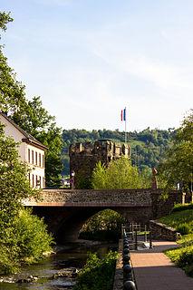 Wisper right tributary of Rhine river