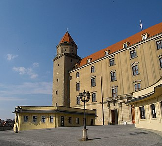 Bratislava Castle - Main entrance of the castle (before renovation)
