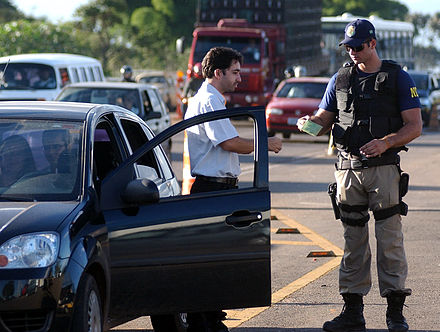 Brazilian Federal Highway Police at work. Brazilian Federal Highway Police.jpg