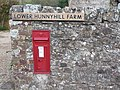 Brighstone, postbox No. PO30 39, Hunnyhill - geograph.org.uk - 1566049.jpg