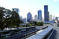 Brisbane CBD viewed across Victoria Bridge from the QCC Pedestrian Bridge (2009-07-16).JPG
