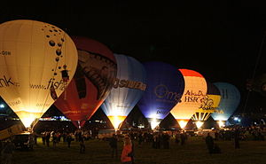 Bristol International Balloon Fiesta - The nightglow is one of the most popular parts of the fiesta.