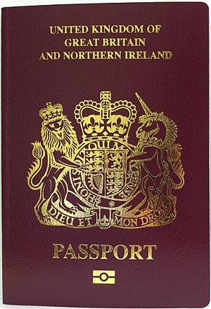 British National (Overseas) passport - The cover of a biometric British National (Overseas) passport