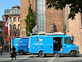 Broadcast van at St. Paul's Church Frankfurt Hesse Germany.JPG