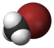 Spacefill model of bromomethane