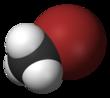 Spacefill model van methylbromide