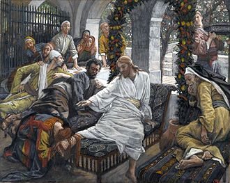 Anointing of Jesus - The Ointment of the Magdalene (Le parfum de Madeleine). James Tissot, c. 1900