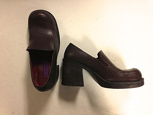 Slip-on shoe - Women's loafers from the mid-1990s.