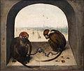 Bruegel il vecchio, due scimmiette incatenate, 1562, 03.JPG