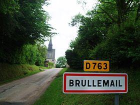 Brullemail Orne Normandy limit sign.JPG