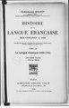 Brunot - Histoire de la langue française, des origines à 1900 — Tome 4, Deuxième partie.pdf