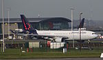 Brussels Airlines Airbus A330-200 taxiing to runway 25R at Brussels Airport.jpg