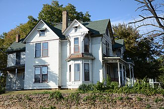 National Register of Historic Places listings in Crawford County, Arkansas - Image: Bryan House, Van Buren Arkansas, South Elevation