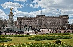 Buckingham Palace in Londen, residentie van koningin Elizabeth II van het Verenigd Koninkrijk (geboren 21 april 1926)