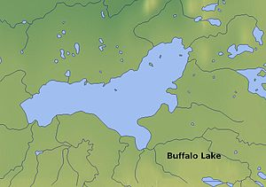 Buffalo Lake (Northwest Territories) - Map