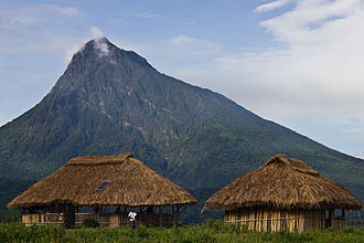 Virunga National Park - Bukima Camp in the foothills of Mikeno Mountain, home of the Congolese mountain gorillas