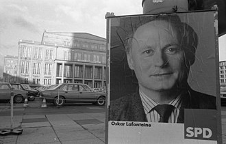 Oskar Lafontaine - Lafontaine election poster, 1990