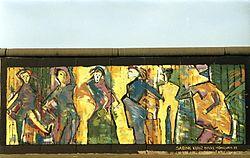 Graffiti ander berliner Mauer