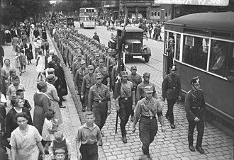 Nazi Party - The SA in Berlin in 1932. The group had nearly two million members at the end of 1932.