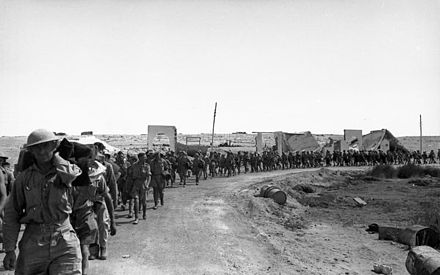 Allied prisoners are marched out of Tobruk Bundesarchiv Bild 101I-785-0294-32A, Tobruk, englische Kriegsgefangene.jpg