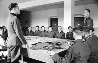 SS-Junkerschule Bad Tölz - Cadets taking part in a classroom exercise in 1942/43