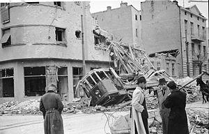 Operation Retribution (1941) - Bomb-damaged buildings in Belgrade in April 1941